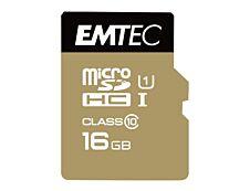 Emtec Elite Gold - carte mémoire 16 Go - Class 10 - micro SDHC
