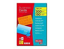 Apli DECAdry - Papier pour 150 cartes de visite coins arrondis 85 x 54 mm - 200 g/m² - 15 feuilles