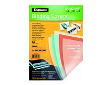 Fellowes - 100 couvertures à reliure A4 (21 x 29,7 cm) - plastique 150 microns - transparent