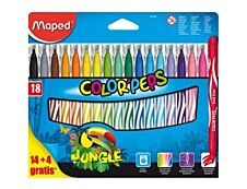 Maped Color'Peps Jungle - 18 feutres