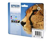 Epson T0715 Guépard - Pack de 4 - noir, cyan, magenta, jaune - cartouche d'encre originale