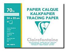 Clairefontaine Fine Arts - Pochette papier à dessin calque - 20 feuilles - 24 x 32 cm - 70G