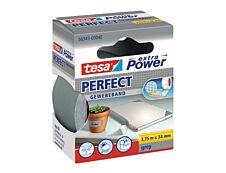 Tesa extra Power Perfect - Ruban adhésif en toile - 38 mm x 2.75 m - gris