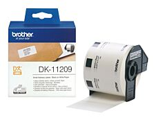 Brother DK-11209 - Ruban d'étiquettes auto-adhésives - 1 rouleau de 800 étiquettes (29 x 62 mm) - fond blanc écriture noire