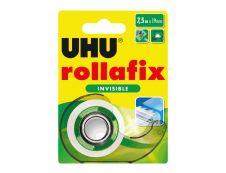 UHU rollafix - Distributeur avec ruban de bureau invisible 19 mm x 7,5 m