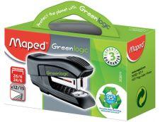 Maped - Mini Agrafeuse Greenlogic - capacité de 15 feuilles - agrafes 24/6 ou 26/6