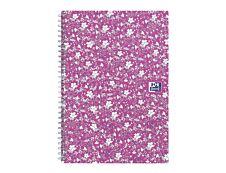 Oxford Floral - Carnet de notes à spirale - A5 - 120 pages - ligné