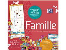 Calendrier Oxford Family - 1 Mois sur 2 pages - 30 x 30 cm