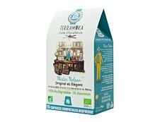 Terramoka Mister Nelson - 15 capsules de café type Nespresso - arabica décaféiné