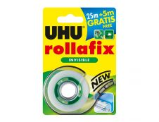 UHU Rollafix - Ruban adhésif avec dévidoir - invisible - 19 mm x 30 m