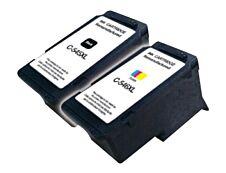 Canon PG-545XL/CL-546XL - remanufacturé UPrint C.545/546XL - pack de 2 - noir, cyan, magenta, jaune - cartouche d'encre