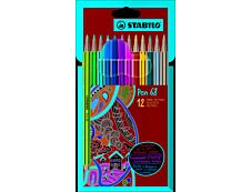 STABILO Pen 68 - 12 feutres pointe moyenne - coloris assortis