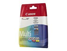 Canon CLI-526 - Pack de 3 - cyan, magenta, jaune - cartouche d'encre originale