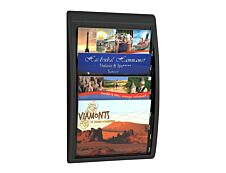 Présentoir mural Quick Fit pour documents 24 x 32 cm paysage - 4 compartiments - noir/transparent