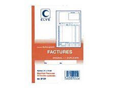 ELVE - Manifold Carnet de factures - 50 dupli - 21 x 14 cm