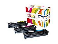 Owa K35593OW cartouche équivalente HP 131A - pack de 3 - cyan, magenta, jaune