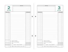 Recharge d'agenda Perpétuel de caisse - 1 jour par page - 16 x 24 cm - feuilles mobiles 2 trous - Exacompta