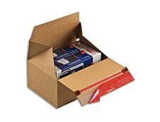 ColomPac - Boîte d'expédition Eurobox fond automatique - 19,4 cm x 19,4 cm x 8,7 cm (S) - kraft