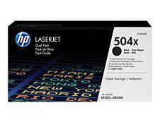 HP 504X - Pack de 2 - noir - cartouche laser d'origine