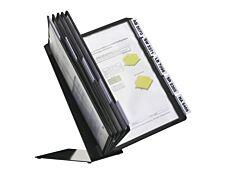Durable Vario - Pupitre de table (lutrin) avec 10 pochettes A4 - noir