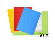 Exacompta Forever - 50 Chemises imprimées 2 rabats - 290 gr - couleurs assorties