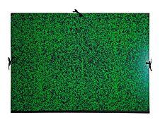 Exacompta - Carton à dessin - 52 x 72 cm - vert - fermeture par cordons