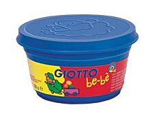 GIOTTO be-bè- pâte à modeler- 4 pots rouge, jaune, blanc et cyan- 100gr