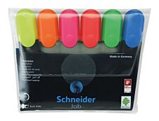 Schneider Job - Pack de 6 - surligneurs - couleurs assorties