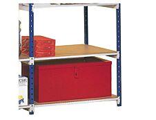 Paperflow Rang'Eco - 6 plateaux isorel pour rack de stockage pour dossiers suspendus - 125 x 37 cm