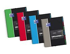 Oxford Etudiants - Cahier trieur Organiserbook A4+ (24 x 29,7 cm) - 180 pages - grands carreaux (Seyes) - disponible dans différentes couleurs