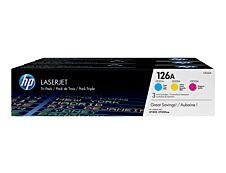 HP 126A - Pack de 3 - cyan, magenta, jaune - cartouche laser d'origine