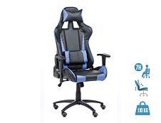 Fauteuil gamer SPORTING - accoudoirs réglables - noir et bleu