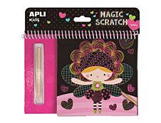 Apli Kids - Cartes à gratter Fées - 8 feuilles