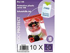 Exacompta - 10 Packs de 10 étuis simples 10,5 x 15 cm - 20/100 - cristal