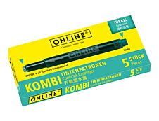 Online Kombi - 5 Cartouches d'encre turquoise