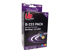 Brother LC223 - compatible UPrint B.223 - Pack de 5 - noir x2, cyan, magenta, jaune - cartouche d'encre