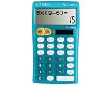 Calculatrice de bureau Citizen FC-100N - 10 chiffres - alimentation batterie et solaire - bleu