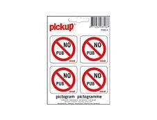 Pickup - Pictogramme - No pub - 4 autocollants 100 x 100 mm