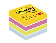 Post-it - Mini Bloc Cube Energie - couleurs assorties - 400 feuilles - 51 x 51 mm
