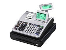 Casio SE-S400 - Caisse enregistreuse - 3000 PLU - Tiroir : 5 pièces et 3 billets - Noir/argent - certifié loi fiscale 2018.
