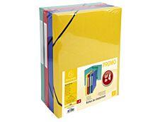 Exacompta - 4 boîtes de classement en carte lustrée - dos 25 mm - coloris assortis