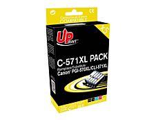Canon CLI-571XL/PGI-570XL - remanufacturé UPrint C.570/571XL - Pack de 5 - noir x2, cyan, magenta, jaune - cartouche d'encre