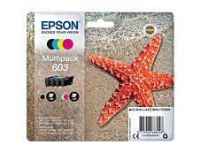Epson 603 Etoile de mer - pack de 4 - noir, cyan, magenta, jaune - cartouche d'encre originale
