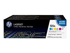 HP 125A - Pack de 3 - cyan, magenta, jaune - cartouche laser d'origine