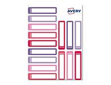 Avery - 30 Étiquettes adhésives pour stylos rose/rouge - 50 x 10 mm