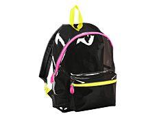 Sac à dos Neon 1 compartiment - noir translucide, zips fluo - Exclusivité Bureau Vallée - Viquel