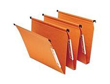 Fast Standard - 25 Dossiers suspendus pour armoires - orange - fond 15 mm