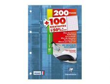 Clairefontaine - Bloc de cours - A4 - 300 pages - petits carreaux (5x5 mm) - perforé