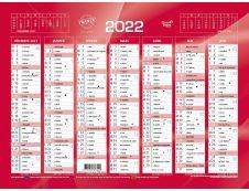 Quo Vadis - Calendrier bancaire 7 mois par face - 13,5 x 18 cm - rouge