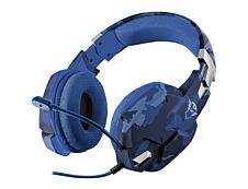 TRUST GXT 322B Carus - Casque gamer filaire avec micro - camouflage bleu